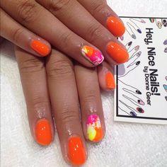 Orange with splatter accent