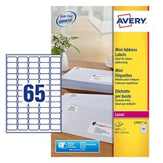 From 11.73 Avery L7651-25 Self-adhesive Mini Organising/return Address Labels 65 Labels Per A4 Sheet
