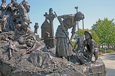 The Irish Potato Famine of 1845 - This memorial honors the memory of over a million Irish people who died of starvation.
