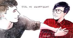 I wanted to cry especially cuz phil was wearing his glasses