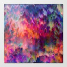 Sunset Storm Stretched Canvas by Amy Sia - $85.00