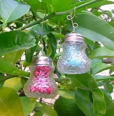 Hometalk :: Crystal Ornaments Made From Vintage Salt Shakers