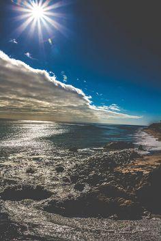AMAZING sun clouds beach wave blue | von JJDPhotography