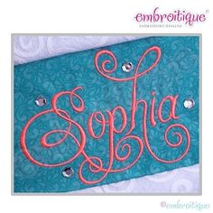 Charming Calligraphy Script Monogram Set, Small - 4 Sizes! | What's New | Machine Embroidery Designs | SWAKembroidery.com Embroitique