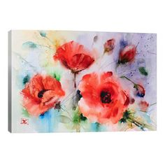 Poppies Canvas Print 46 x 66cm by Dean Crouser Canvas Art  @ POP.COM.AU♥🌸♥