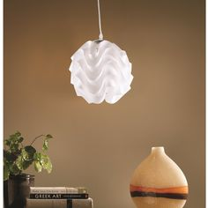 Fine Mod Imports Soho Hanging Lamp, White FMI9240WHITE at appliancesconnection.com. The Soho Hanging Lamp features a perfect combination of a classic style with a modern look. With its chic flowing design the Soho Lamp will complement any room with its warm glow. #classic #lightingideas #stylish