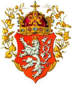 Wappen des Königreichs Böhmen (Coat of arms of the Kingdom of Bohemia)… Kingdom Of Bohemia, Holy Roman Empire, Family Crest, Crests, Coat Of Arms, Czech Republic, Herb, Drawing, Illustration
