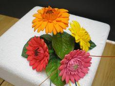 Gerbera wedding cake flowers