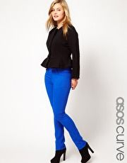 ASOS CURVE Skinny In Dazzling Blue