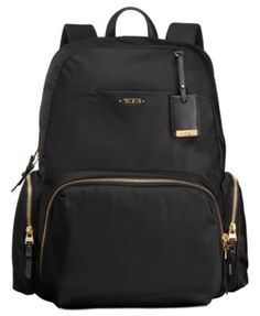 From business trips, to everyday outings, this stylish backpack is has got your back. Essential features such as a laptop compartment, phone pockets and elegant leather trim keep you organized and loo