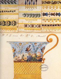 Design for a Sèvres porcelain cup, Empire period, c. 1800.