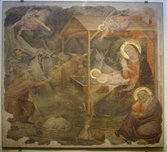 Niccolò di Pietro Gerini (attr.) - Natività - 1390 ca. - Sacrestia, Chiesa di Santa Felicita, Firenze