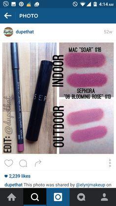 #lip #swatch #dupe #MAC #sephora #mauve