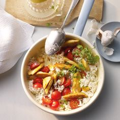Hähnchen-Joghurt-Pfanne Rezepte | Weight Watchers Wight Watchers, What You Eat, Couscous, Poultry, Lunch, Healthy Recipes, Dishes, Cooking, Ethnic Recipes