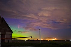 Stars, Sprites, Clouds, Auroras --- Feb. 4 --- Image Credit & Copyright: Mike Hollingshead (Extreme Instability)