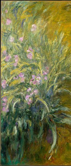 huariqueje:  The Path through the Irises ( detail) Claude Monet 1914-17 Oil on canvas