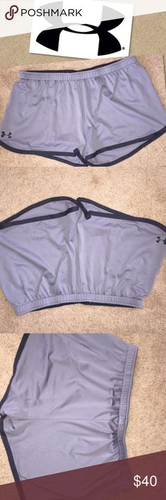 🎉Crazy Price Drop🎉 Under Armour athletic shorts Under Armour running jogging shorts gray and black size large great condition athletic shorts Under Armour Shorts