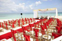 Aekta & Jignesh Wedding ceremony on world famous Seven Mile Beach by Celebrations Ltd. Indian Beach Wedding, Gold Beach Wedding, Red Rose Wedding, Beach Wedding Centerpieces, Beach Wedding Favors, Wedding Ceremony, Wedding Venues, Wedding Decorations, Beach Weddings