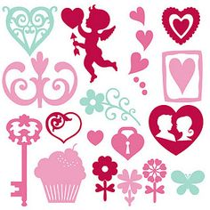 ♥Free♥ 15 SVG cut files for valentine's day. Could use some of these for glass etching!
