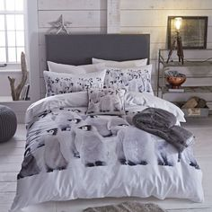 Comfort Style Christmas Fawn Reindeer Duvet Cover With Pillowcases