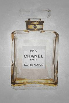 CANVAS Chanel No. 5 in Gold 12x18 Giclee Gallery Wrap by Kelissa Semple #buyartforless