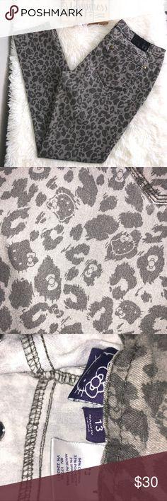 bfdacc783 Hello Kitty leopard print gray skinny pants Hello Kitty leopard print  skinny jeans. Great condition