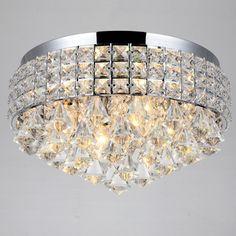 Antonia Ornate Crystal Flush Mount Chandelier in Chrome - Overstock™ Shopping - Big Discounts on Flush Mounts