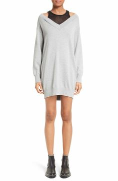 Main Image - T by Alexander Wang Knit Dress with Inner Tank
