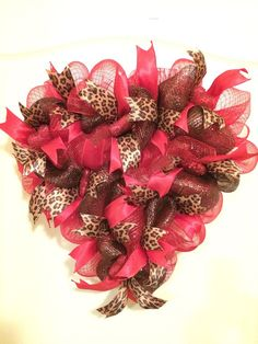 Valentine's Day wreath heart shaped with red by SuzysOzarkWreaths