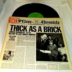 Jethro Tull ‎Vinyl LP Thick As A Brick MS-2072 Ex US 1972 Progressive Folk Rock  #ProgressiveFolk