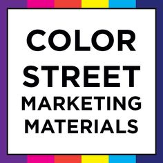 14 Best Color Street Marketing Materials Business Cards Images In