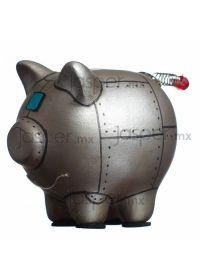 Alcancía cerdito de cerámica - Robot Mini