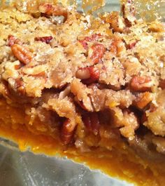 Sweet Potato Praline- a pinner says: no one has ever said their sweet potato casserole was better! It's my Mother's prized recipe!