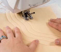 If you've got a walking foot, you have an awesome option for machine quilting: walking-foot quilting! Pat Sloan shows you how your walking foot can do wonders on the first try. Walk on over to our blog today to learn how :)