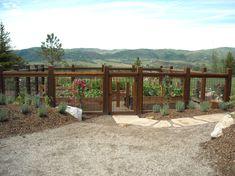 Vegetable Garden Fence Ideas Landscape Traditional with Bark Mulch Cedar Elk