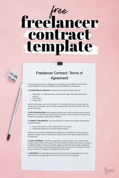 This free freelancing contract template is perfect for new and experienced freelancers in all industries. Are you protected? Business Planning, Business Tips, Design Facebook, Business Marketing, Content Marketing, Internet Marketing, Media Marketing, Online Marketing, Planners