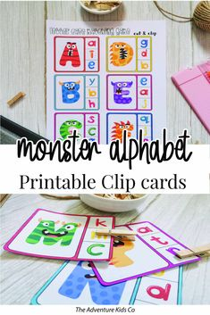 Preschool Learning Activities, Free Preschool, Alphabet Activities, Preschool Alphabet, Preschool Printables, Toddler Activities, Kids Learning, Letter Flashcards, Alphabet Cards