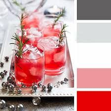 grey and red colour pallet