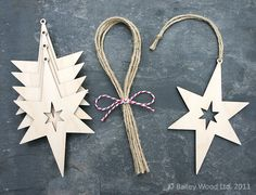 Twinkle Star Christmas Wood Crafts, Christmas Paper, Christmas Decorations, Twinkle Star, Twinkle Twinkle, Art N Craft, Wood Ornaments, Cutwork, Laser Cutting