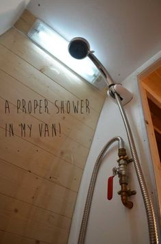 Hot shower in a van!
