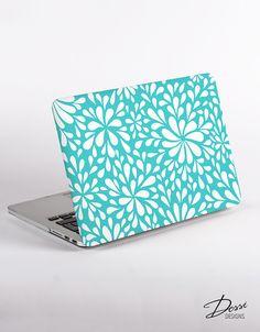 Hard Plastic Flower Confetti Macbook Case Design in Mint for MacBook Pro Retina Display and MacBook Air Case