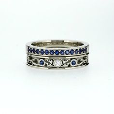 Hey, I found this really awesome Etsy listing at https://www.etsy.com/listing/193871886/blue-sapphire-filigree-engagement-ring