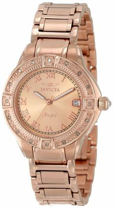 d1955edd15d Product Description  This Invicta Angel timepiece glistens with its  luxurious design accented by diamonds along its bezel