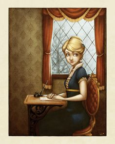 Writing Letters  by ~Kecky