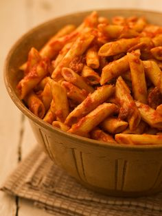 Penne with Tomato Bacon Sauce - from Chef Michael Smith. I made this last night and it was super quick, easy, and yummy! Roasted Tomato Sauce, Roasted Tomatoes, Pasta Recipes, Soup Recipes, Cooking Recipes, Dinner Recipes, Bacon Sauce Recipe, Sauces, Pasta