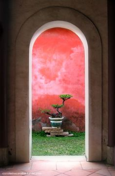Door? maybe, but like it as a niche or portal to a small private garden