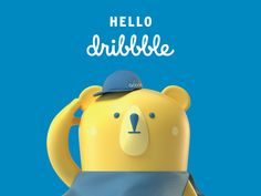 Hi Dribbble! designed by GOGOVAN. Connect with them on Dribbble; the global community for designers and creative professionals. Bear Character, 3d Model Character, Character Concept, Character Design, Illustration Story, 3d Figures, Mascot Design, Kids Logo, Cute Characters