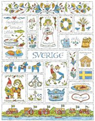 Swedish art by Jana Johnson Schnoor Swedish Style, Swedish Design, Swedish House, Swedish Decor, Scandinavian Folk Art, Scandinavian Countries, Scandinavian Furniture, Swedish Christmas, Scandinavian Christmas