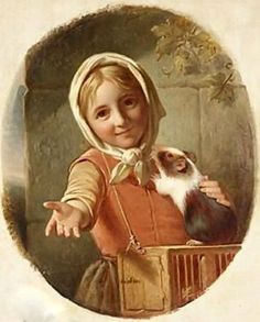 Portrait Of A Girl With A Guinea Pig