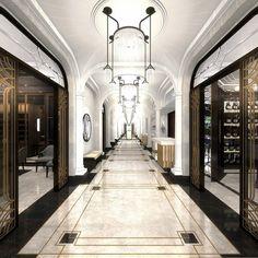 Ideas Art Deco Hotel Lobby Floors For 2019 Lobby Design, Design Hotel, Design Entrée, Art Deco Design, Floor Design, Pattern Design, Interior Design, Design Ideas, Art Deco Hotel